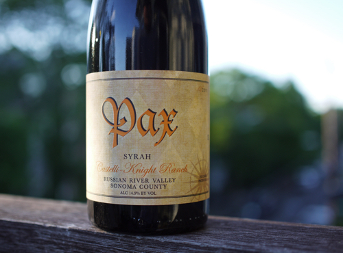 Pax Wine Cellars Syrah